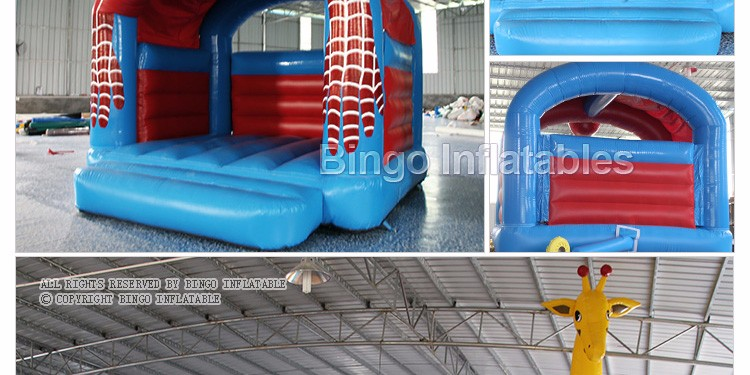 Outdoor Inflatable Spider Man Moonwalk Trampoline Bouncer-inflatable spider bouncerinflatable spider bouncer castle portable (3)