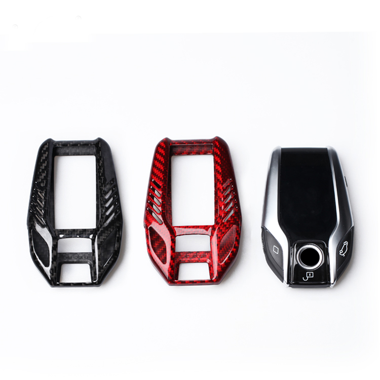 Carbon Fiber Key Shell Key Case Cover For BMW 5 series I12 G12 G11 G20 G30 Car Accessories Styling