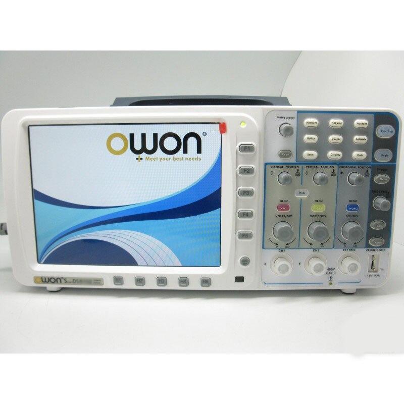 Newest low noise OWON 100Mhz Oscilloscope SDS7102V FFT 1G LAN+VGA