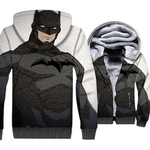 Hip Hop superhero coat wool liner style hooded batman new arrival Men thick jackets 3D print sweatshirts sportswear clothes 2019 casual thick wool liner hip hop jackets men punk fashion coats long sleeve hooded clothes the superhero 3d print sweatshirt 2019