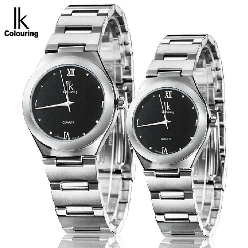 Ik for vintage quartz watch lovers table circle women's watch commercial men's watch 98030g