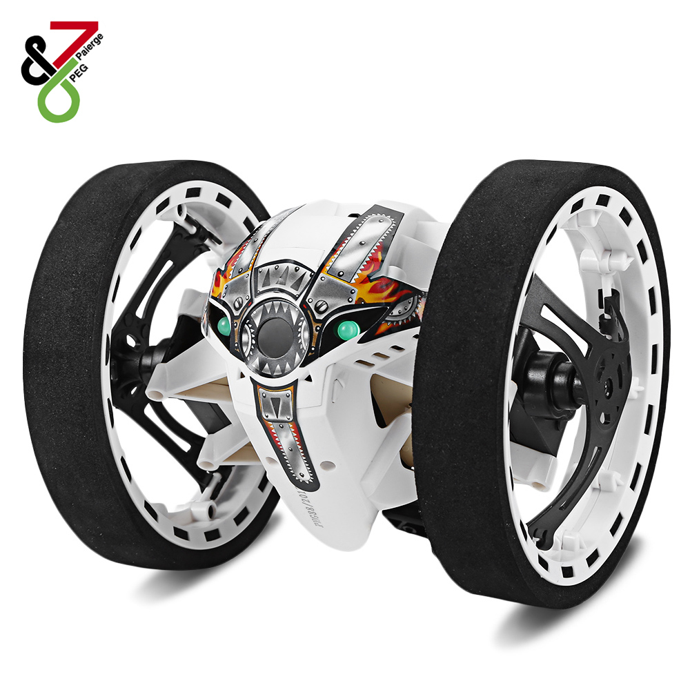 New RC Car Bounce Car Remote Control Toys RC Robot 80cm High Jumping Car Radio Controlled Cars Machine LED Night Toys Kids Gifts цена 2017