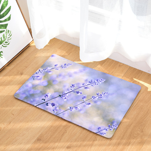 CAMMITEVER Lavender Dandelion Rose Cactus Rose Area Rug Kitchen Mat Entry Way Bath Doormat Bedroom Carpet Machine Washable
