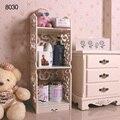 High Quality Waterproof Wood Carving Book Shelf Shoes Rack Shelves Holder Storage Home Organizer 80*30*23CM