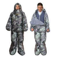 2016 Comfortable Wearable Sleeping Bag Outdoor Camping Lazy Bag Winter Backpacking Travel Hiking Humanoid Sleeping Bag