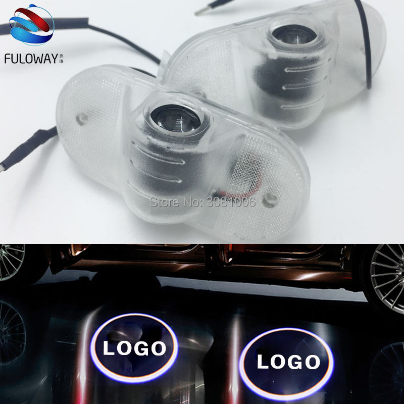 For VW golf 4 mk4 touran caddy mk4 bora Beetle LED Welcome Car Door Courtesy Shadow Logo Lights Projector Laser Ghost Shadow for most cars 2pcs led car door light courtesy logo laser projector punching ghost shadow lamp lights for cadillac logo