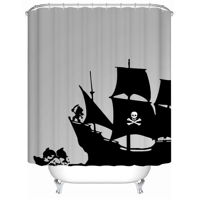 Charmant WARM TOURFabric Shower Curtain Waterproof Acceptable Personalized Custom Shower  Curtains Bathroom Curtain Pirate Ship180*180CM