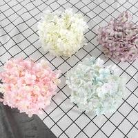 10pcs/lot Silk Hydrangea Flower Head Big Size Wedding Flowers Wall Decoration Bride Bouquet Accessories 176Pcs Petal Composition
