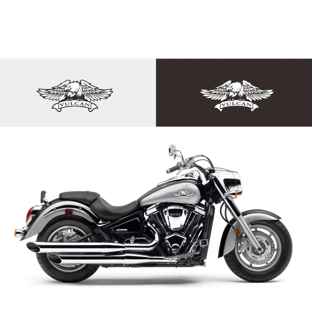 Custom Eagle Logo Stickers Fuel Tank Decals Vinyl Sticker For Kawasaki Vulcan VN400 VN800 VN1500/1600/1700 VN2000