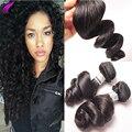 Малайзийский Девственные Волосы Свободная Волна 4 Пучки Бровей Малайзийские Виргинские Распущенными волосами Волна Переплетения Дешево Человеческие Волосы Свободно Вьющиеся Дева волос