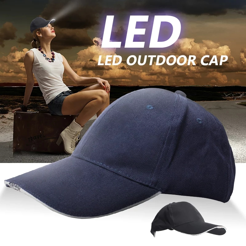 Unisex 5 LED Headlamp   Cap   Battery Powered Hat With LED Head Light Flashlight Head Lamp Lantern For Fishing Jogging   Baseball     Cap