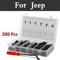 200pcs Car Door Trim Panel Clips Clips Nail Push Set In Case Rivets For Jeep Cherokee Compass Grand Srt8 Clip Trim Kit