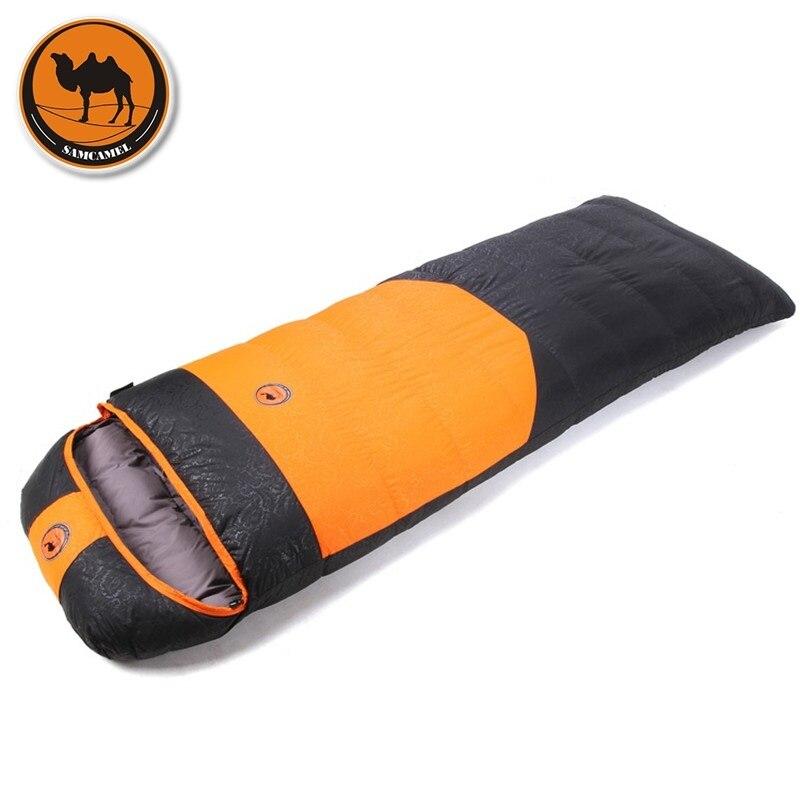 Camcel ultralight font b camping b font sleeping bag envelope white duck down sleeping bag compression