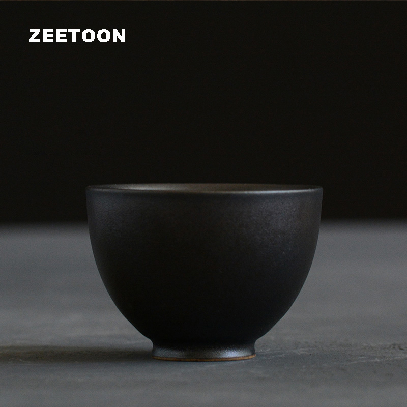 50ml Zen Japanese Style Coarse Pottery Teacup Ceramics Kung Fu Tea Set Master cup Puer Black Tea cup Creative Home Decor New