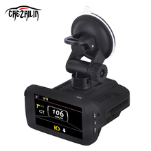 Cámara del coche DVR XHD Radar Detectores de Dash Cámara Grabadora de Vídeo 1296 P Anti Radar Detector de Control de Velocidad Del Vehículo de Alarma GPS Tracker