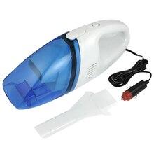 AUTO Blanco Claro Azul Aspirador del Polvo del Coche De Plástico DC 12 V