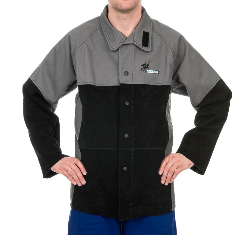 Здесь продается  Split Cow Leather Flame Retardant Welding Clothing FR Cotton Coverall Weldas Arc Knight Welding Jackets   Безопасность и защита