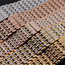 Нержавеющая сталь ремешок для часов Серебро Золото Rosegold Высокое качество Браслеты для Часов 14 мм 16 мм 18 мм 20 мм 22 мм яркий полированный аксессуары