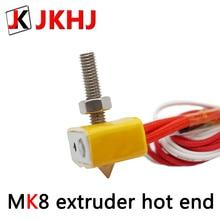 3D Printer Parts MK8 extruder Print head 1.75/0.4mm nozzle Aluminum Heat Block 12v/24v hotend