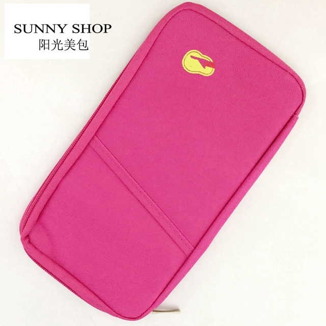 SUNNY SHOP Cheap Discount Storage bag travel day clutch card holder wallet coin purse finishing document bill bag