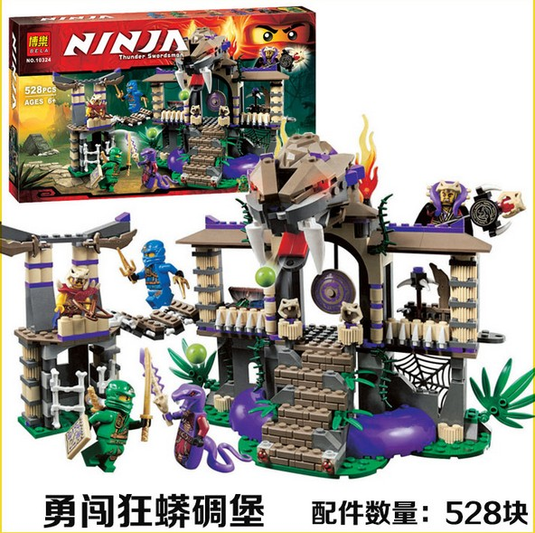 Lepin 528pcs 10324 Enter Serpent Lloyd Jay Kapau'rai Ninjagoe Thunder Swordsman Building Blocks Bricks Toys Compatible Legoe  провод nymбм o 2х1 5 ту серый 100м мастертока 10324