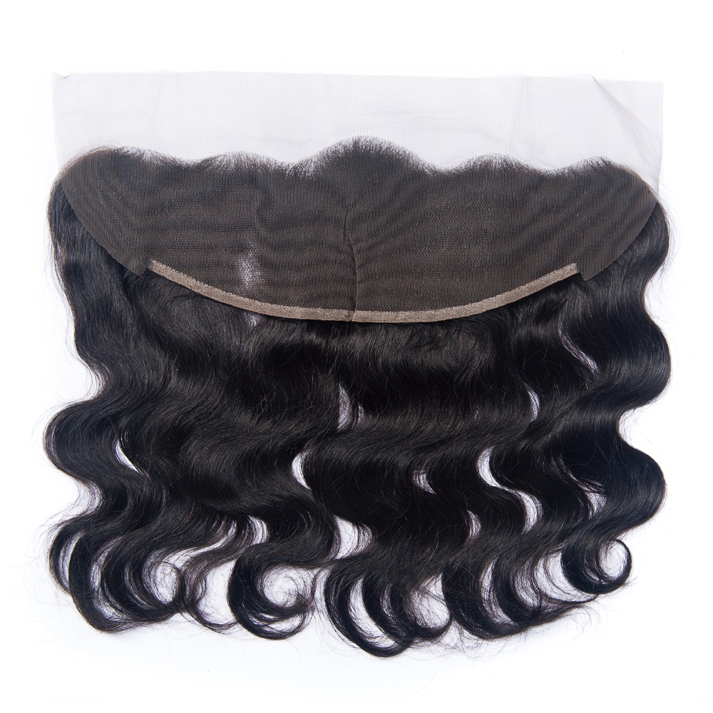 Indian Body Wave Frontal Closure With Baby Hair 100% Non Remy Human Hair 13x4 Ear To Ear Lace Frontal Closure