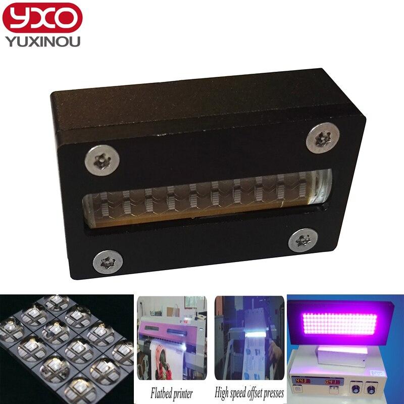 Шт. 1 шт. 80 Вт светодио дный Светодиодный УФ принтер головка модуль 395нм для epson головка dx5 принтер трафаретная печатная машина, УФ планшетный