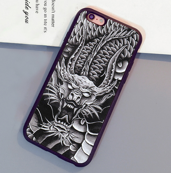 Cool Chinese Dragon Unique Printed Soft TPU Skin Mobile Phone Cases For iPhone 6 6S Plus 7 7 Plus 5 5S 5C SE 4S Back Shell Cover