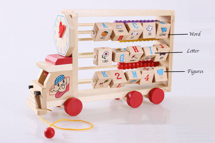 Multi Function Design Wooden Montessori Toy Math Material Early Educational Learning Clock Calculation Children Toys WD41