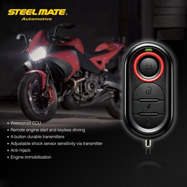 Steelmate 986E 1 способ Мотоцикл Противоугонная охранная сигнализация Система дистанционного запуска двигателя и иммобилизации с мини-передатчиком