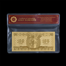 Billete de hoja de oro de Hungria 100 Forint, billete de hoja de Metal dorado, regalo dorado, promoción de ventas