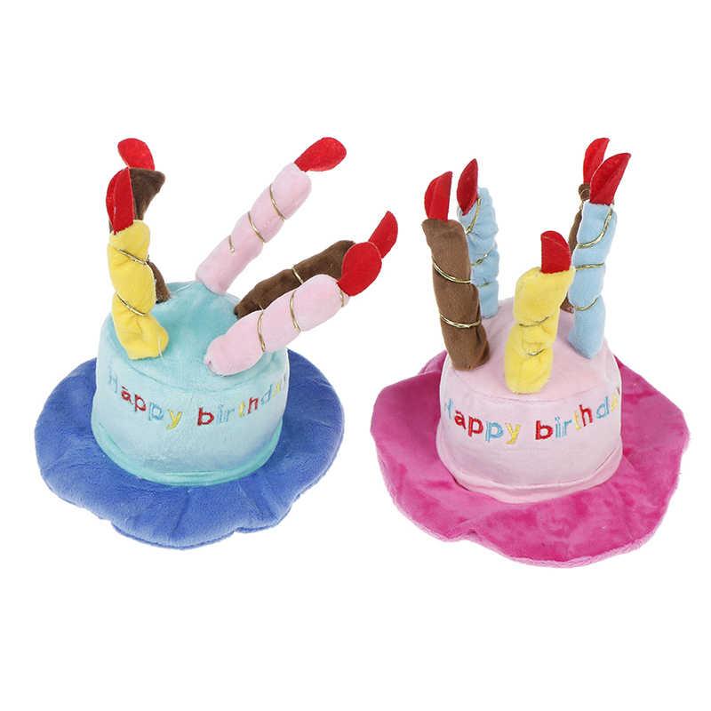 Czapki kapelusz z świeczki na tort projekt kostium na przyjęcie urodzinowe nakrycia głowy akcesoria towary dla psów czapki dla psów Pet Cat Dog urodziny