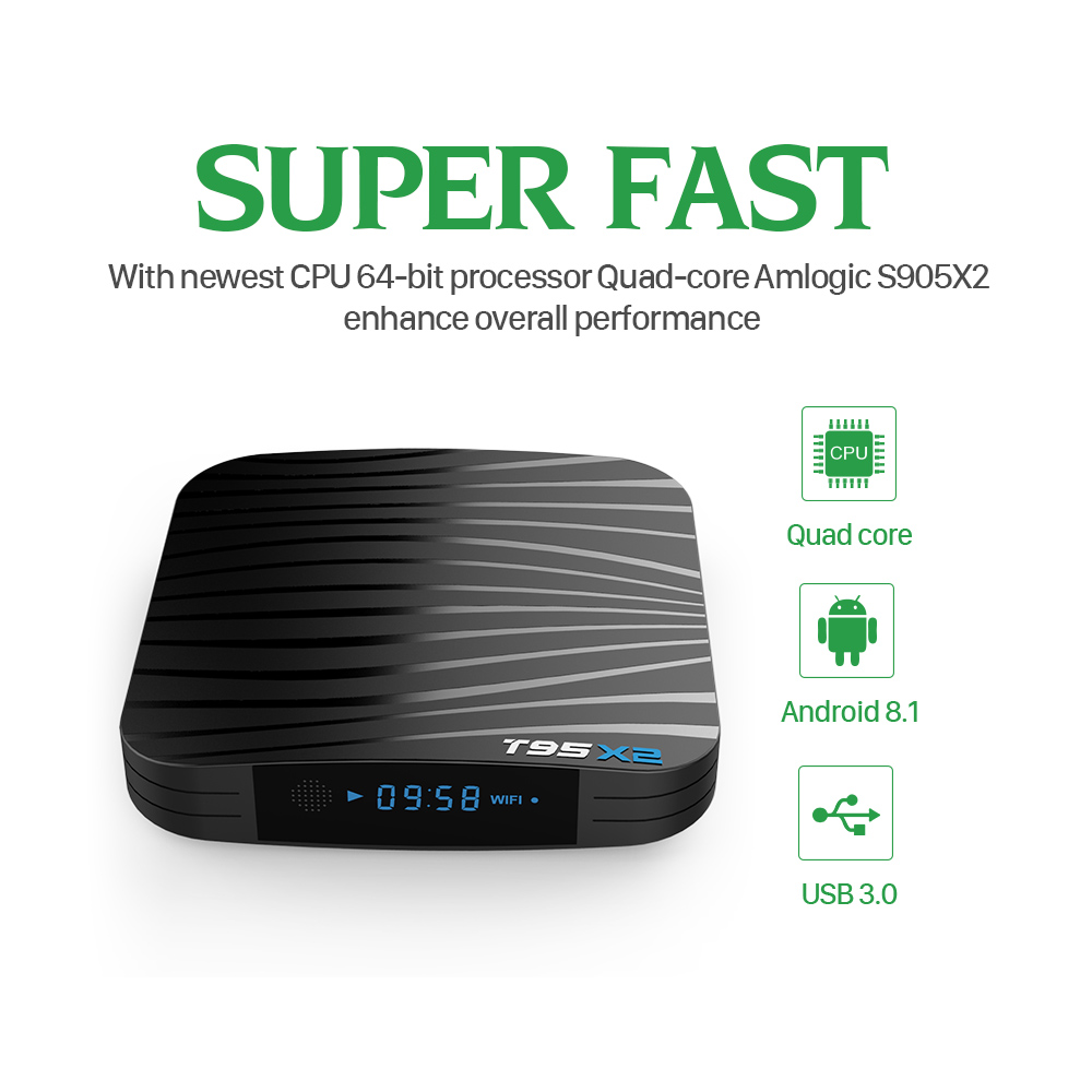 Image 4 - T95X2 Tv Box 4GB 32GB S905X2 Android 8.1 With 1 Year QHDTV Iptv Subscription French Arabic Morocco Belgium Netherlands Ip Tv Vod-in Set-top Boxes from Consumer Electronics