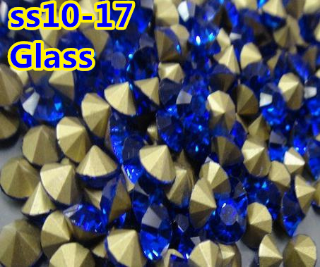 Sapphire color~1440pcs pack SS9~SS17 Round Crystal loose pointback Beads    Stones  bd7b28273449