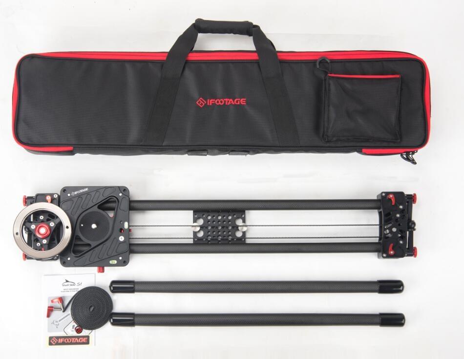 iFootage carbon fiber Shark Slider S1 1350mm camera slider video dolly track Portable dslr slider DSLR Camcorders professional