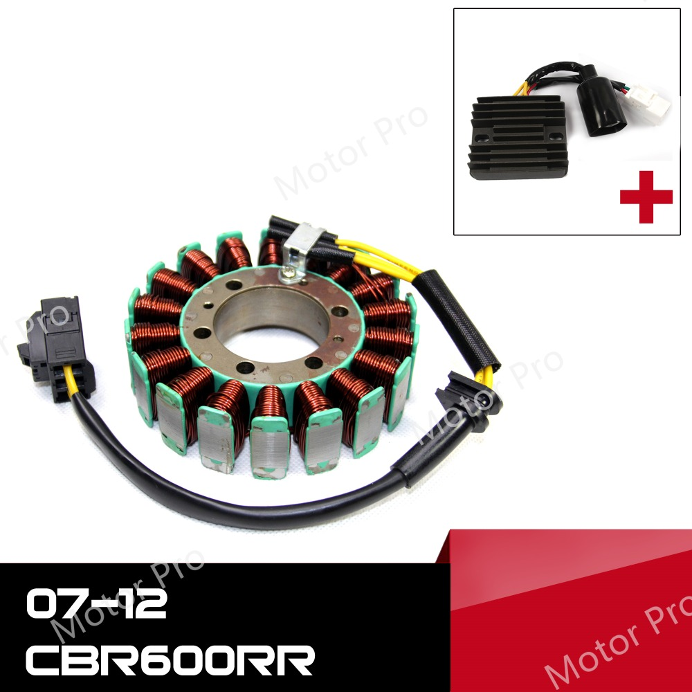 For Honda CBR600RR 2007 - 2012 Engine Stator Coil and Voltage Regulator Kits Motorcycle Rectifier CBR600 600CC 2009 2010 2011For Honda CBR600RR 2007 - 2012 Engine Stator Coil and Voltage Regulator Kits Motorcycle Rectifier CBR600 600CC 2009 2010 2011