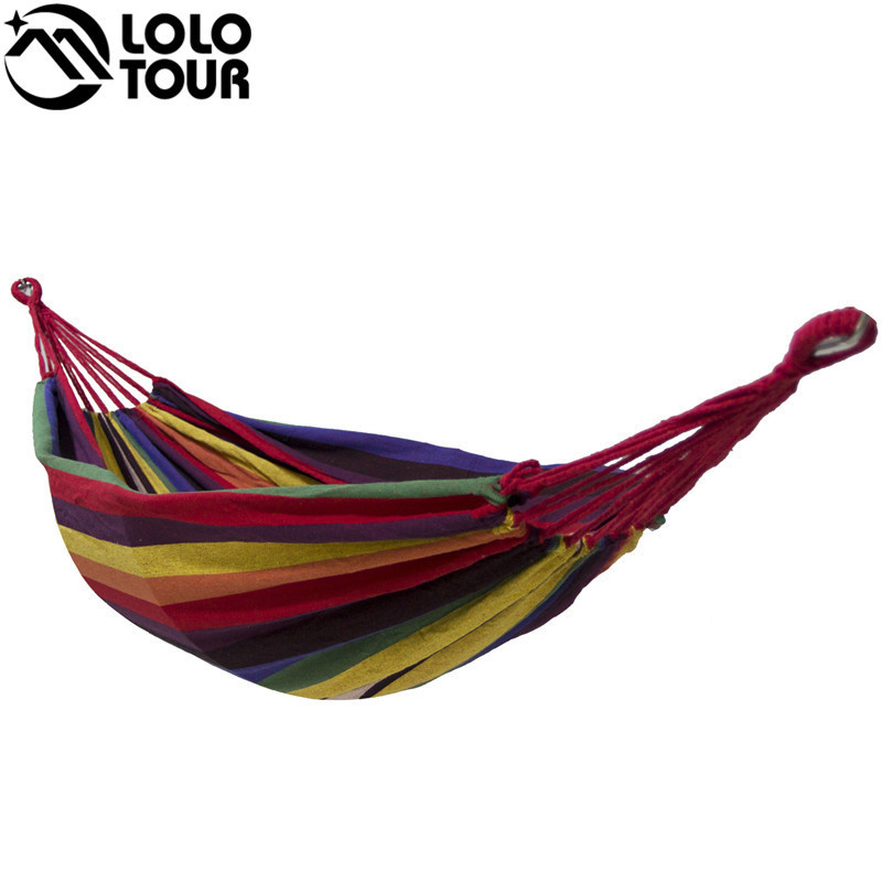 High Strength Thicken Single Canvas Fabric Hammock Garden Sleeping Casual Hamak Outdoor Hamac Swing Hamaca Travel 200*100cm 2 people portable parachute hammock outdoor survival camping hammocks garden leisure travel double hanging swing 2 6m 1 4m 3m 2m