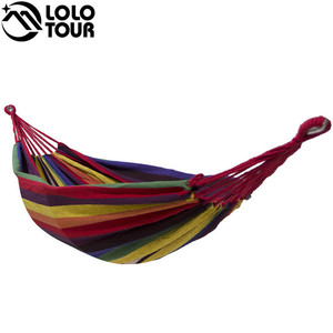 Image 1 - High Strength Thicken Single Canvas Fabric Hammock Garden Sleeping Casual Hamak  Outdoor Hamac  Swing Hamaca Travel 200*100cm