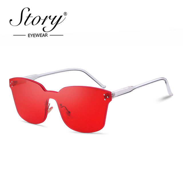665f513a9f STORY fashion cat eye sunglasses women 2019 luxury brand designer trend red  Jelly candy color vintage
