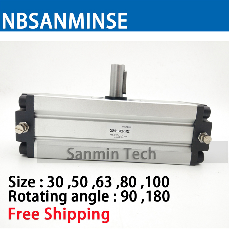 CRA1 Pneumatic Compressed Air Cylinder Rotary Actuator SMC Type Cylinder SMC High Quality Compressed Air Cylinder Sanmin free shipping air cylinder pneumatic compressed parts msqb type pinion air non lube smc high quality on best sale sanmin