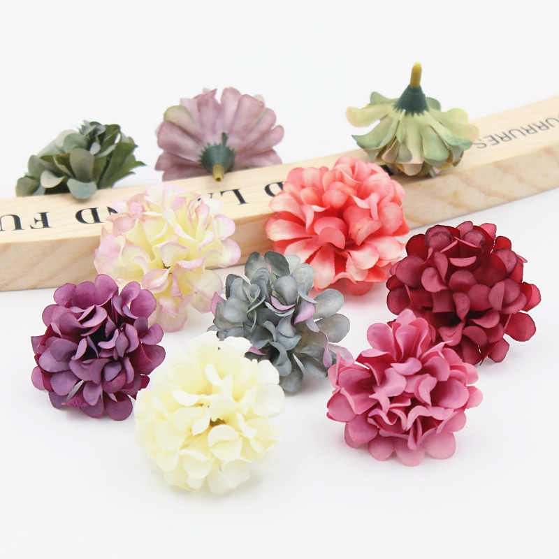 10 PCS 4 centímetros Margarida Barato Mini Falso Flor de Seda Artificial Rose Flores Heads DIY Scrapbooking Beijo Bola Para O Casamento decorativo