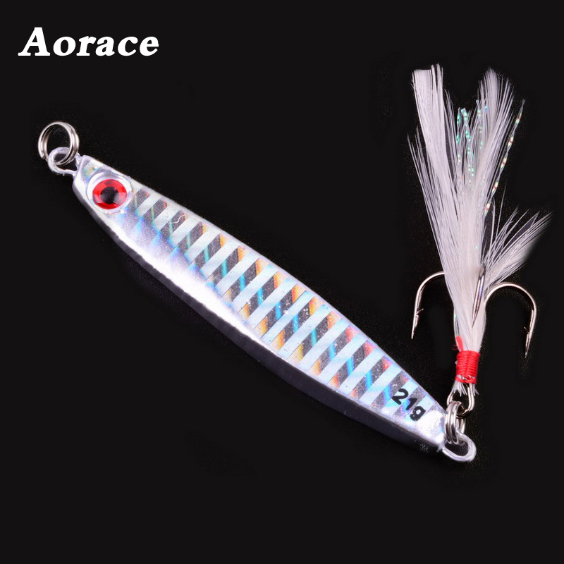 Laser Lead Fish Fishing Lure Metal Jig Lures Leurre  7g 14g 21g 30g 40g 3D Eyes Sea Fishing Wobbler Hard Baits