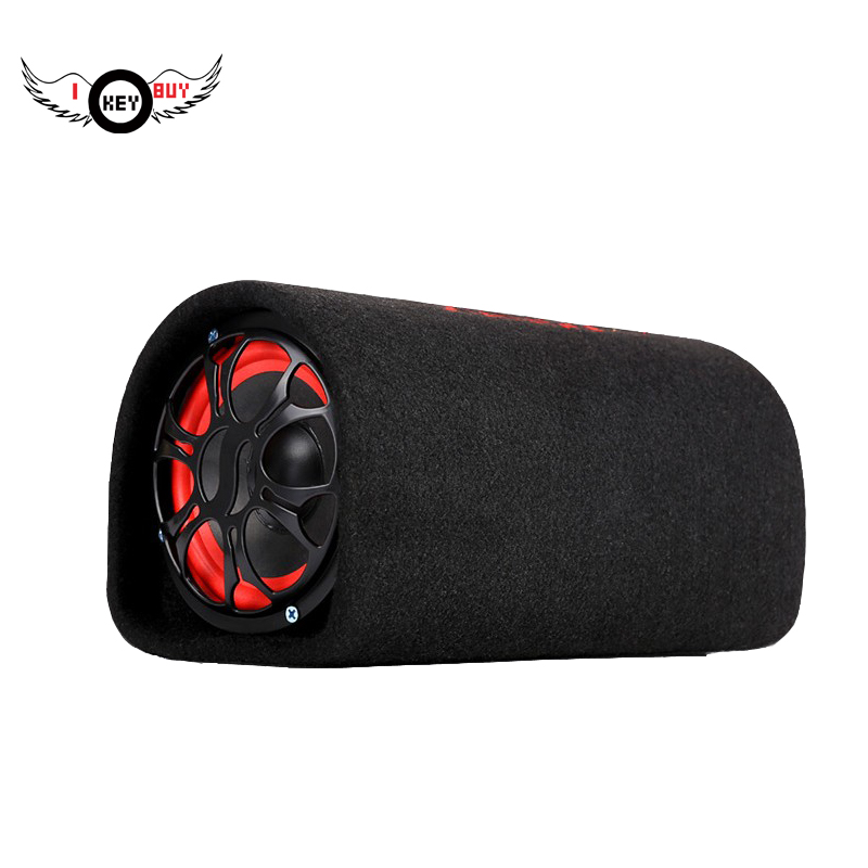 I KEY BUY 5 Inch 12V 220V Tunnel Car Audio Hifi Active Booster Speakers Subwoofer Auto Parts