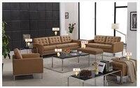 U-BEST preto top grain real couro sofá secional sofá de couro Moderno conjunto de sala de estar, 1,2 & 3 assento conjunto de Sofás