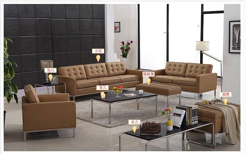 U BEST Schwarz Spitzenkorn Echte Leder Sofagarnitur Ledercouch Moderne Wohnzimmer Set 1
