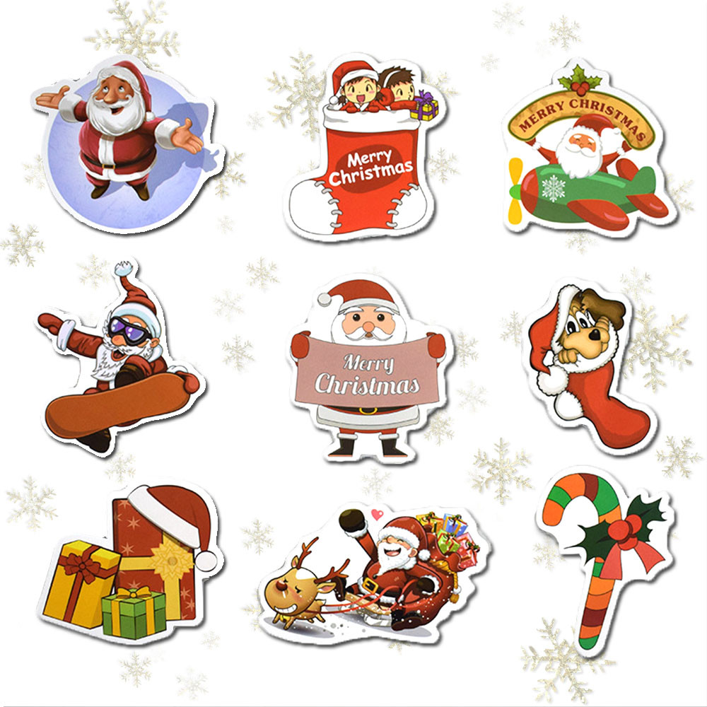 US $2 77 OFF Mini Cute Snowman Wall Stickers Christmas Graffiti Decals Skateboard Laptop Luggage Car Guitar Bicycle Stickers Xmas Wallpaper In