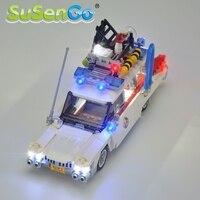 고스트 버스 터스를위한 SuSenGo LED 라이트 키트 유명 브랜드 21108 빌딩 블록 완구와 호환되는 Ecto-1 세트 장식