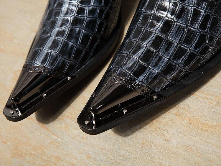 Marca Homem Apontou Derby Metal Dos Partido Sapatos Luxo As Toe Casamento Homens Desenhador Vestido De Sapatas Negócios Do Trabalho Lazer Carreira Picture 7PnUxwzqn