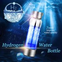 Japanese 350ml Hydrogen Rich Water Generator Alkaline Energy Glass bottle Anion Water Ionizer Anti USB H2 Healthy smart cup