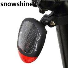 Snowshine2 #3001 Экологически Чистые Солнечные Велосипед Задние Фонари Сигнальные лампы бесплатная доставка оптовые